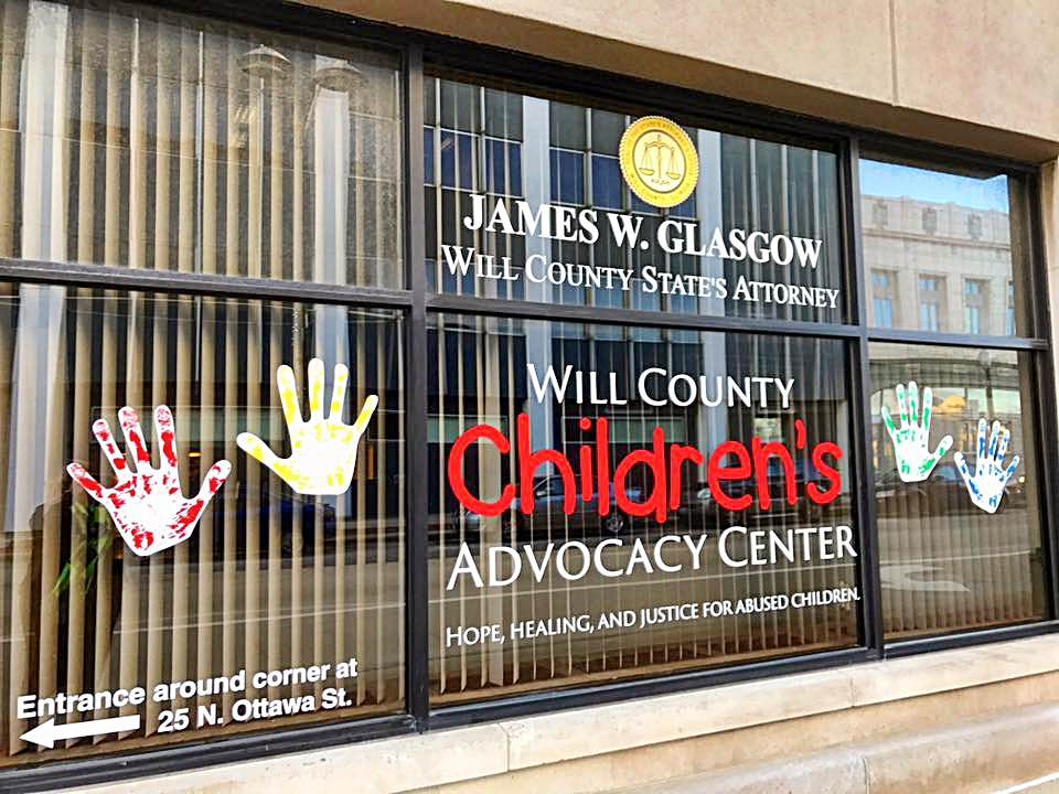 Will County Childrens Advocacy Center logo windows