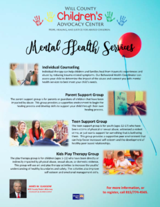 Mental Health Services Flyer - ENGLISH