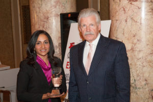 Dr. Sangita Rangala of Edward Hospital and Will County State's Attorney Jim Glasgow